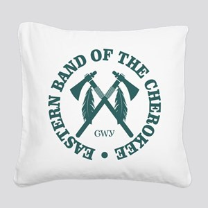 Cherokee (Eastern Band) Square Canvas Pillow
