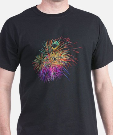 Colorful Fireworks - Patriotic Celebration T-Shirt