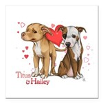 Titus and Hailey Square Car Magnet 3
