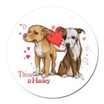 Titus and Hailey Round Car Magnet