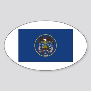 Flag of Utah Sticker (Oval)
