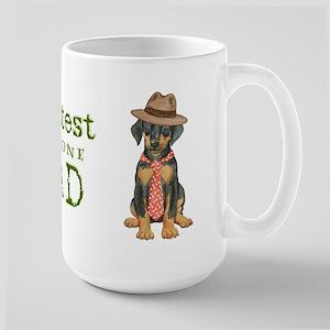 Doberman Dad Large Mug