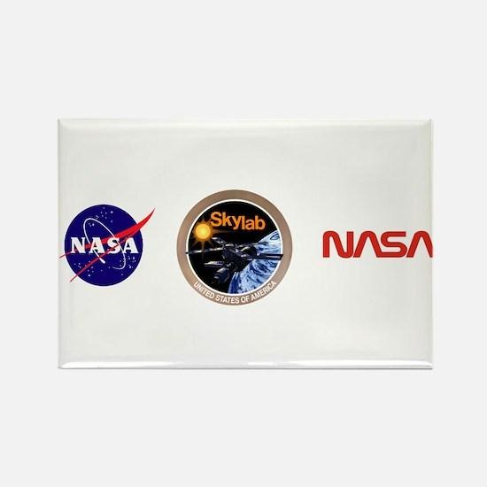 Skylab Program Logo Rectangle Magnet