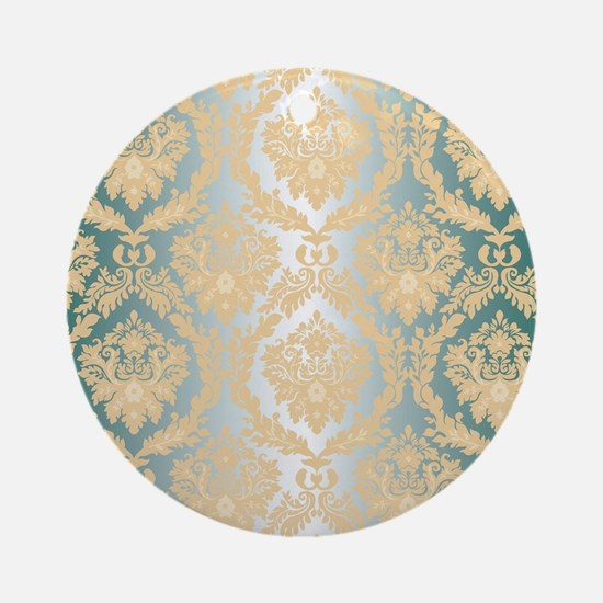 Cute Damask Round Ornament