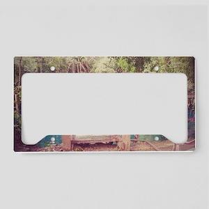 Cenote Mexico  License Plate Holder
