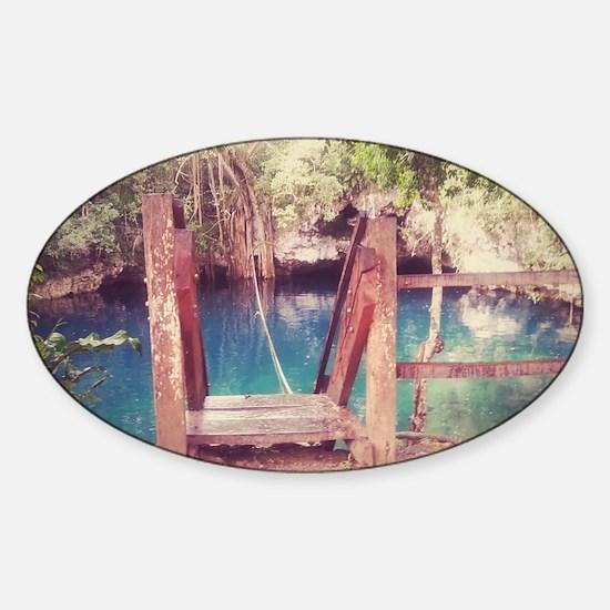 Cenote Mexico  Sticker (Oval)