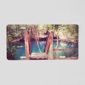 Cenote Mexico  Aluminum License Plate
