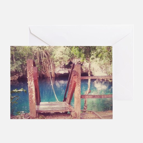 Cenote Mexico  Greeting Card