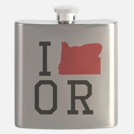 I Heart Oregon Flask