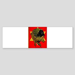 CLOJudah Rastafari Star Bumper Sticker