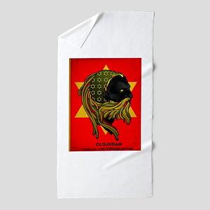 CLOJudah Rastafari Star Beach Towel