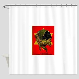 CLOJudah Rastafari Star Shower Curtain