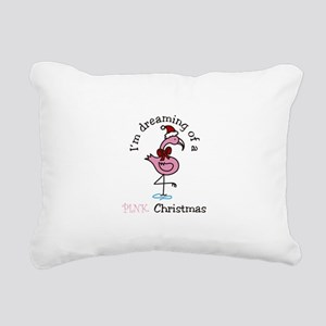 Pink Christmas Rectangular Canvas Pillow