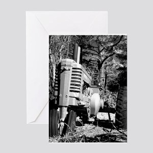 Tractor Greeting Card 349 John Deere In Black And White Cards