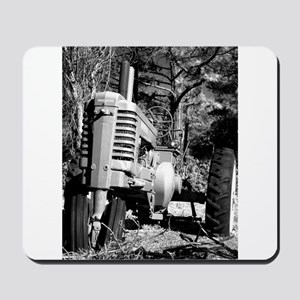 John Deere in Black and White Mousepad