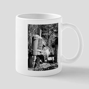 John Deere in Black and White Mugs