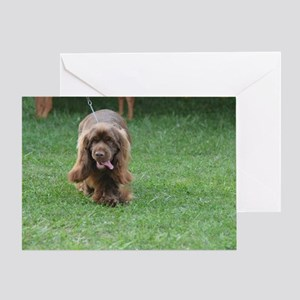 Cute Sussex Spaniel Greeting Card