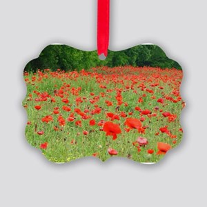 Field of Red Picture Ornament