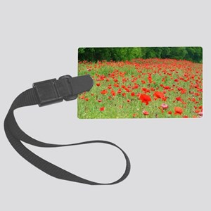Field of Red Large Luggage Tag