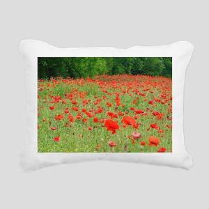 Field of Red Rectangular Canvas Pillow