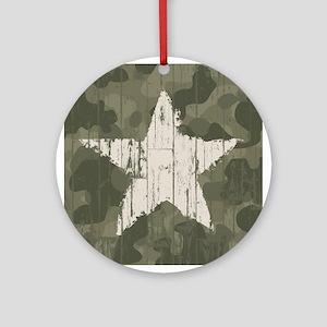 Military Star Ornament (Round)