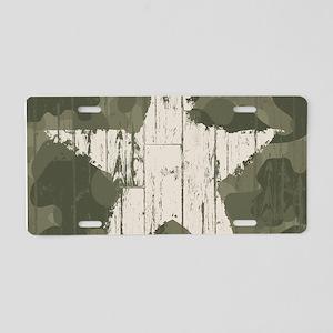Military Star Aluminum License Plate