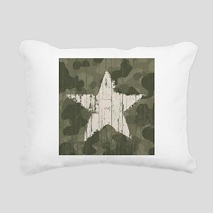 Military Star Rectangular Canvas Pillow