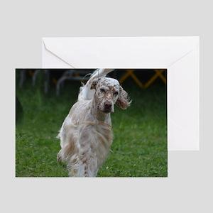 Adorable English Setter Greeting Card