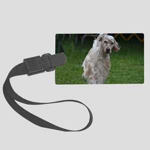 Adorable English Setter Large Luggage Tag