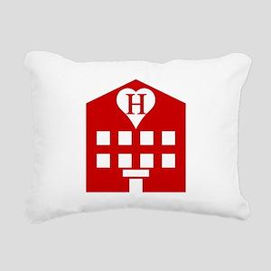 Love Hotel Japanese Emoji Rectangular Canvas Pillo
