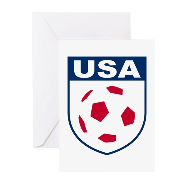 Usa soccer greeting cards by soccerade