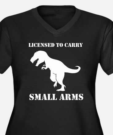 T-Rex Small Arms Carry License Dinosaur Plus Size