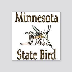 "Minnesota State Bird Square Sticker 3"" x 3"""
