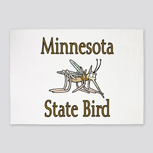 Minnesota State Bird 5'x7'Area Rug