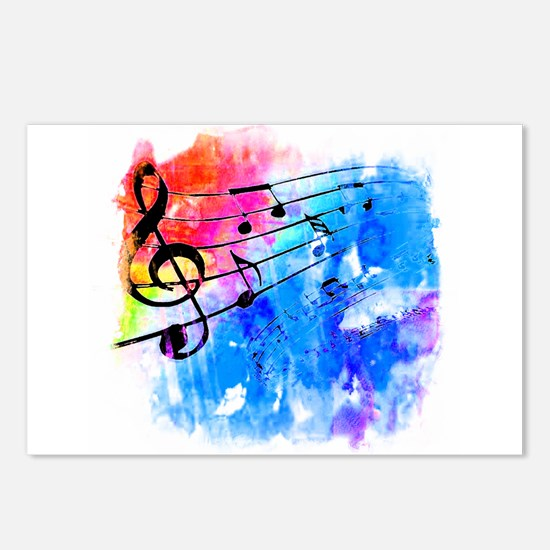 Colorful music Postcards (Package of 8)