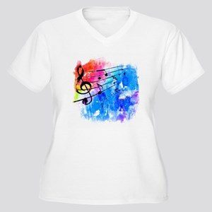 Colorful music Plus Size T-Shirt