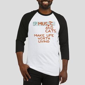 musicandcats-dark Baseball Jersey