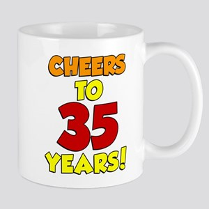 Cheers To 35 Years Drinkware Mugs