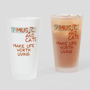musicandcats-dark Drinking Glass