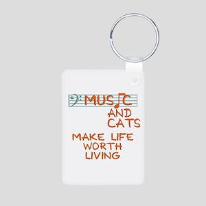 musicandcats-dark Keychains