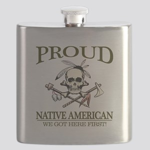 Proud Native American (We Got Here First) Flask