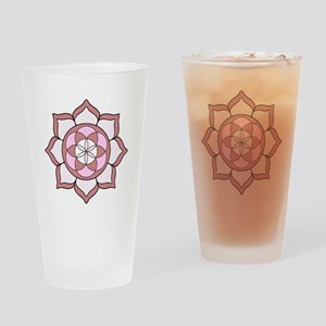 Lotus Rose3 Drinking Glass