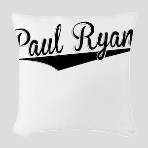 Paul Ryan, Retro, Woven Throw Pillow