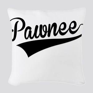 Pawnee, Retro, Woven Throw Pillow