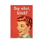 Say What? Funny Sassy Vintage By Bluntcard Magnets