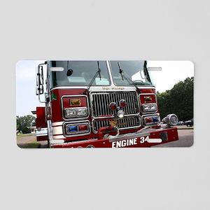 Engine 34 Aluminum License Plate