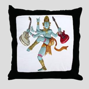 Guitar God Throw Pillow