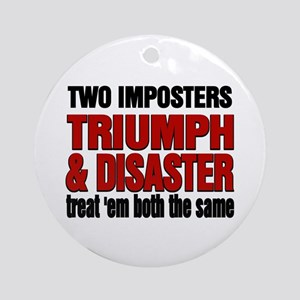 Two Imposters Ornament (Round)