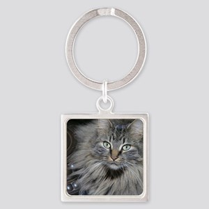 Looker Cat Square Keychain