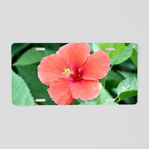 Beautiful Flower Aluminum License Plate